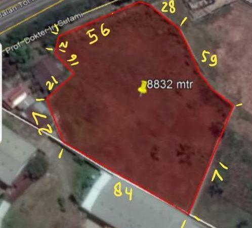 Dijual Tanah Pergudangan Luas 8.832 m2 di Biringkanaya, Makassar